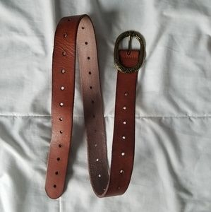Lucky Brand Tan Brown Leather Adjustable Belt